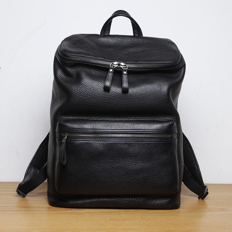 LANSPACE genuine leather backpack famous brand backpack male fashion font b men s b font backpack