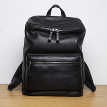 LANSPACE genuine leather backpack famous brand backpack male fashion men s backpack