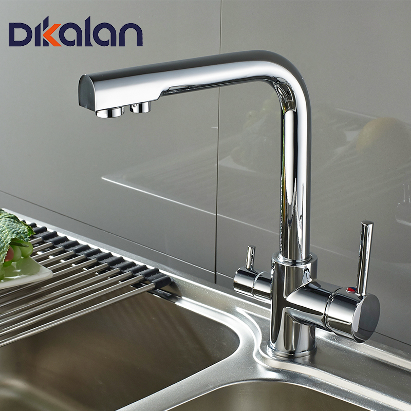 Kitchen Faucets Deck Mounted Mixer Tap 360 Degree Rotation with Water Purification Features Mixer Tap Crane For Kitchen 4098 newly arrived pull out kitchen faucet gold sink mixer tap 360 degree rotation torneira cozinha mixer taps kitchen tap