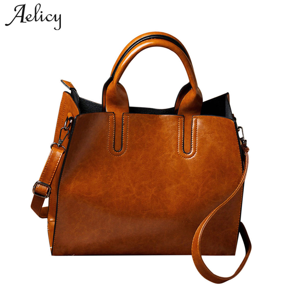 Aelicy pu leather bag female vintage woman designer bags luxury high quality messenger bag women handbag cross body women bag ...