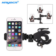 Bicycle Bike Smart Phone Holder Bike Handlebar Grip Mount Clip Mobile Phone Holder Stand Bracket for Iphone X XS Bicycle Holder bicycle clamp mount holder bike clip for insta360 one x for osmo mobile 2 3 kit