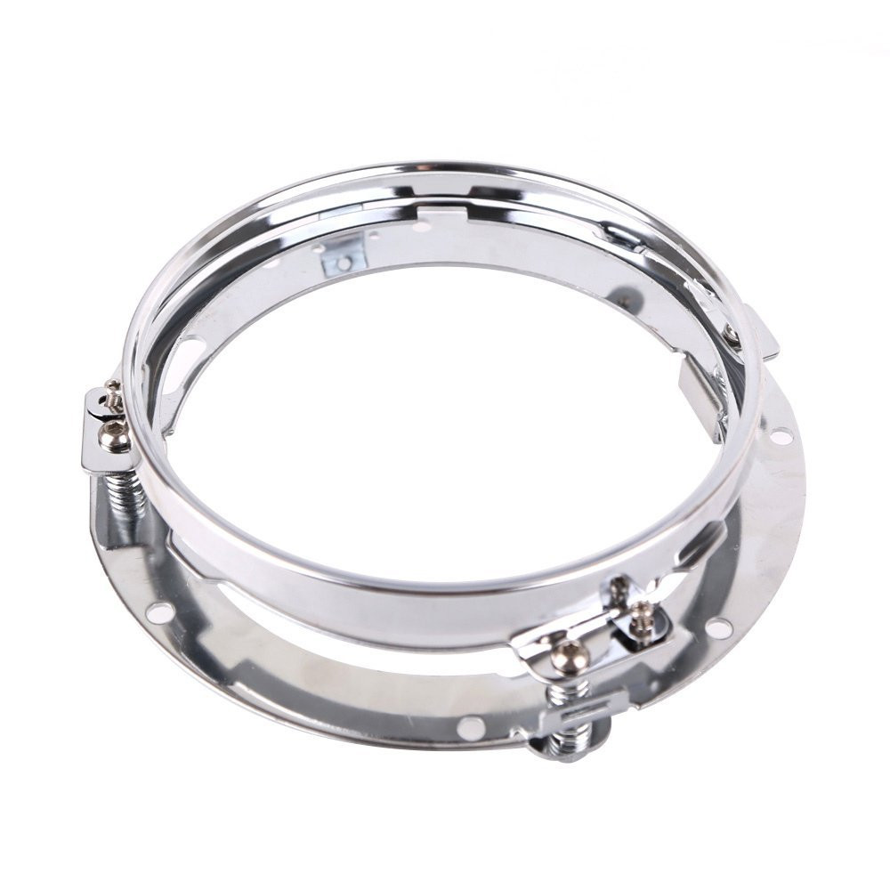 7 inch Round Motorcycle Led Headlight Mounting Ring Bracket for Harley Davidson (1)
