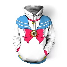 Free shipping woman Japanese anime Sailor Moon clothes cartoon Hoodie Cosplay daily wear JQ-2614