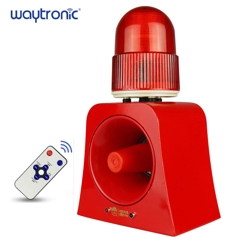 sinal de aviso beacon luz buzina sirene 120db ao ar livre alarme audivel e visual anunciador