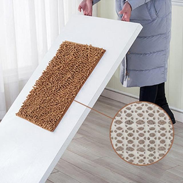 3 sizes Bath Mat Bathroom Carpet Bathroom Mat For Toilet Bathroom Rug Toilet Mat Tub Rug Anti-slipping Absorbent Soft Chenille
