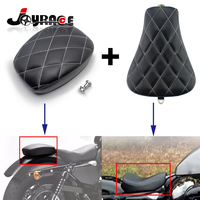 Motorcycle Solo Front Driver Seat and Rear Passenger Seat Cushion For Harley Sportster Forty Eight XL1200 883 72 48