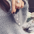 2016 marca desgin cristal oco colar de pérolas recorte cristal gems escudo pérola longo colar de pingente acessórios femininos