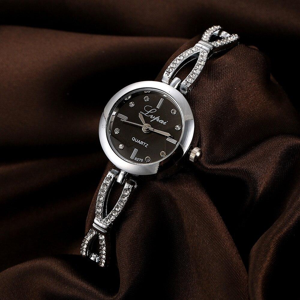 Women Ladies Watch Unisex Stainless Steel Rhinestone Quartz Wrist Watch Luxury Watch Casual Fashion Simple clock Small Dial 2019