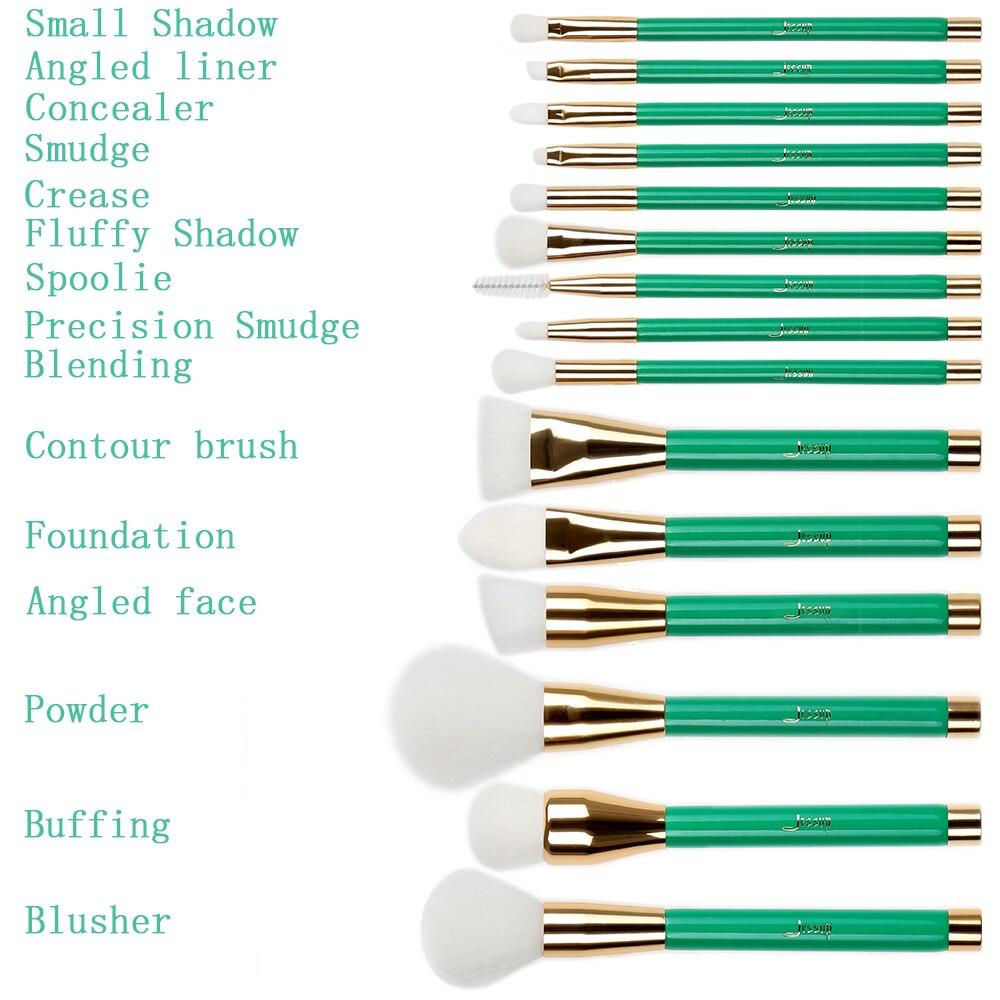 Jessup Βούρτσες 15Pcs Πράσινο / Λευκό - Μακιγιάζ - Φωτογραφία 3