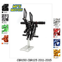 For Honda CBR150 CBR125 2011 2015 Motorcycle Foot Pegs CNC Adjustable Rearset Foot Rests CBR 125 150 Footrests Footpegs Pedal