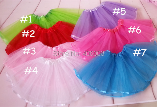 2014 fashion kids 2layer tulle tutu ballet girls tutus ribbon skirts
