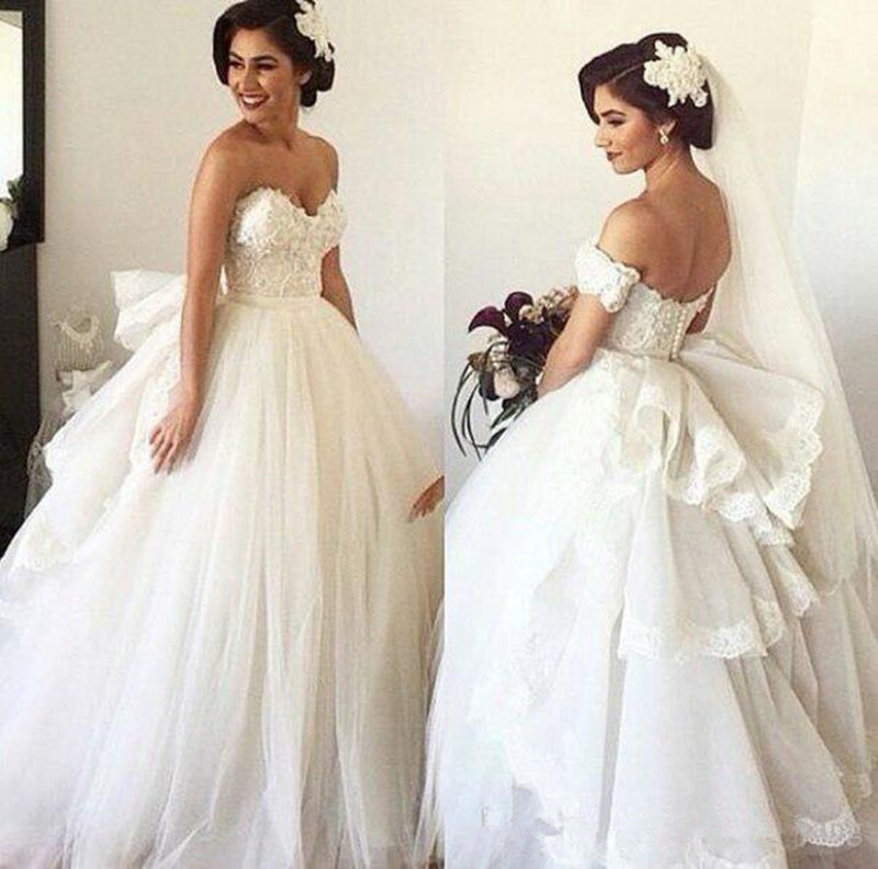 Wedding Dress with Detachable Train Sweetheart Beaded Bodice Spring ...