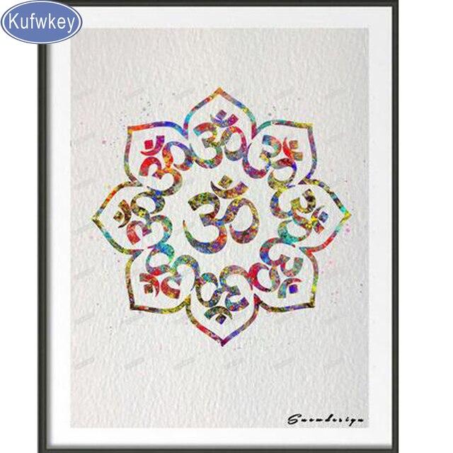 5D diy diamante pintura Mandala Buda Yoga, taladro cuadrado ...