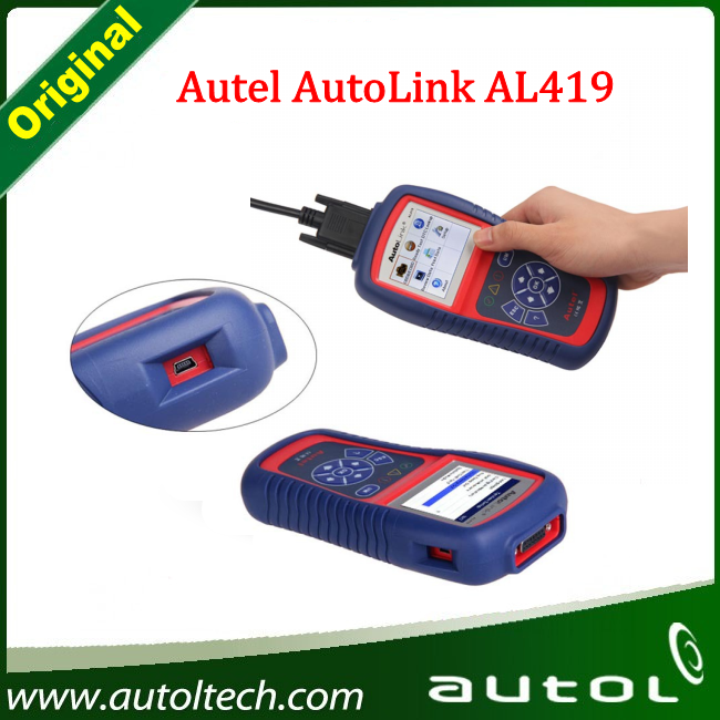 Universal Car Diagnostic Scanner Original Autel Auto Link AL419 OBDII and CAN Scan Tool AL 419