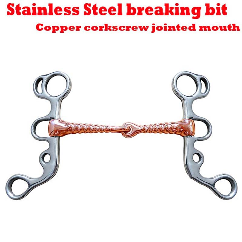 Stainless Steel Horse Chew Thread Shape Copper Curb Mouth Roller Ranch Farm Animals Training Riding Crops