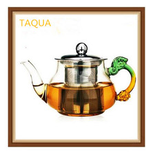 TAQUA High temperature glass tea kettle/stainless steel filter teapot Ginseng oolong tea(China)