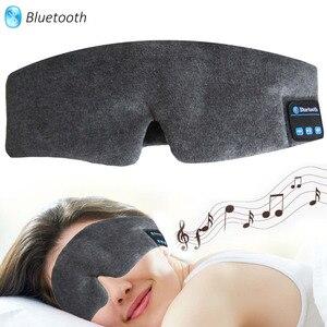 Image 2 - JINSERTA Wireless Stereo Bluetooth Earphone Sleep Mask Phone Headband Sleep Soft Earphones for Sleeping Eye Mask Music Headset