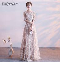 Lace Dresses Long 2018 New Designer Chiffon Beach Garden Wedding Party Formal Junior Women Ladies Tulle Dress