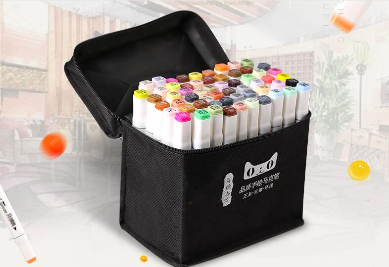 MING YUN 40/60/80/168 Color Animation Marker Pen Set Drawing Sketch Pens Art Markers Alcohol Based Art Supplies With 6 Gifts image