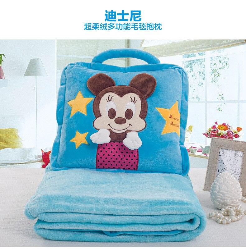 Disney Blanket Children Carton Mickey Minnie Blanket Baby Nap Blanket Summer Air Conditioning Blanket Winnie the Pooh fashion summer nap fish tail shape mermaid design knitting blanket