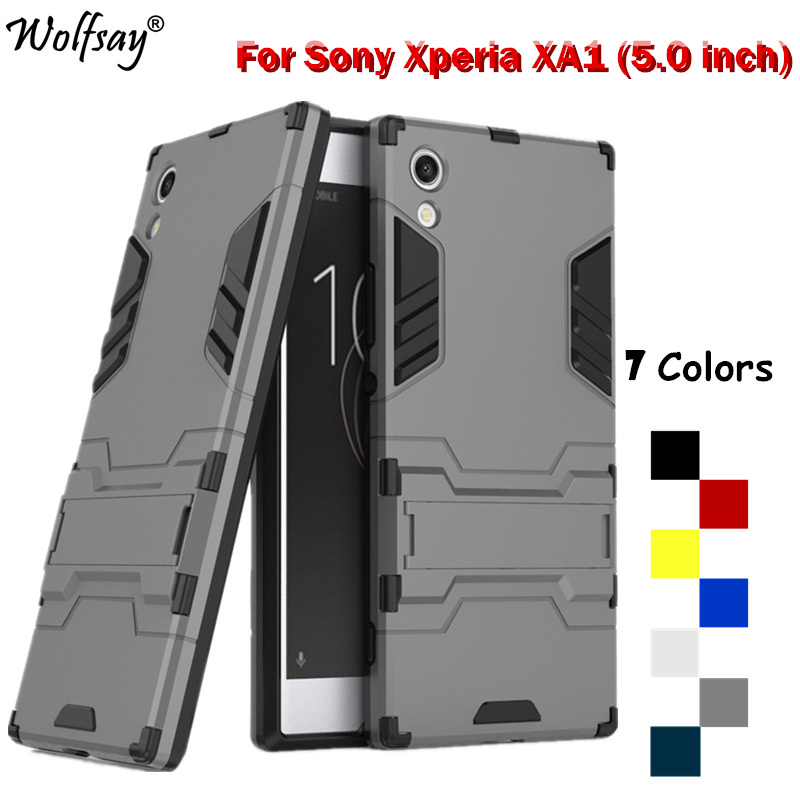 Wolfsay sFor Cover <font><b>Sony</b></font> <font><b>Xperia</b></font> <font><b>XA1</b></font> <font><b>Case</b></font> <font><b>Silicone</b></font> Armor <font><b>Case</b></font> For <font><b>Sony</b></font> <font><b>Xperia</b></font> <font><b>XA1</b></font> <font><b>Case</b></font> For <font><b>Xperia</b></font> <font><b>XA1</b></font> Cover 5.0 inch Fundas Shell image