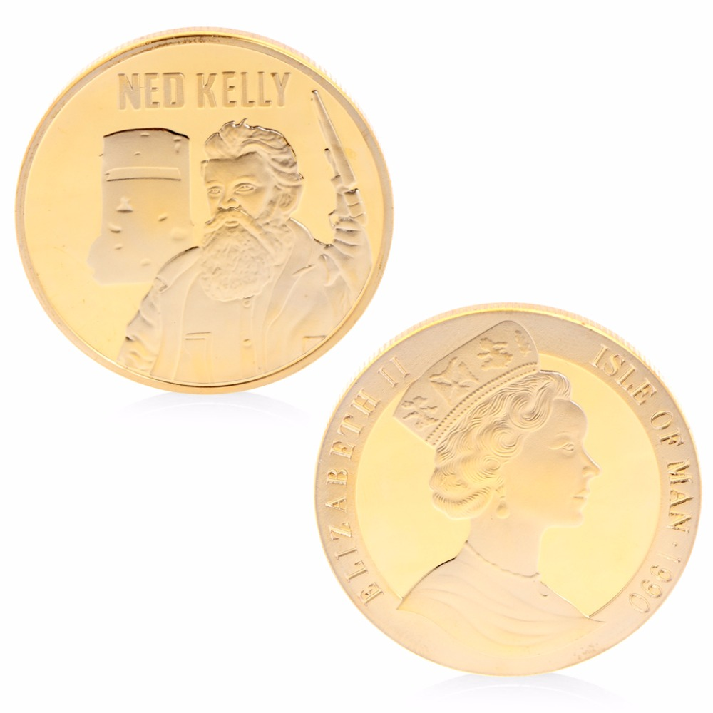 Ned Kelly Commemorative Coins Copper Collection Gifts Souveniors With Zinc Alloy hamlet ned r
