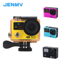 JENMV Action Camera Deportiva Remote Ultra HD 4K 25fps 1080P 60fps dual screen 2.0+0.95 go waterproof pro sport time lapse cam