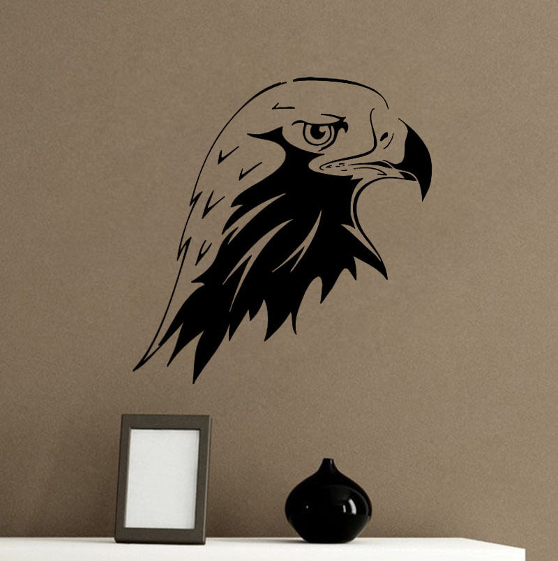 eagle head wall sticker bird wall decor eagle animal wall decor kids