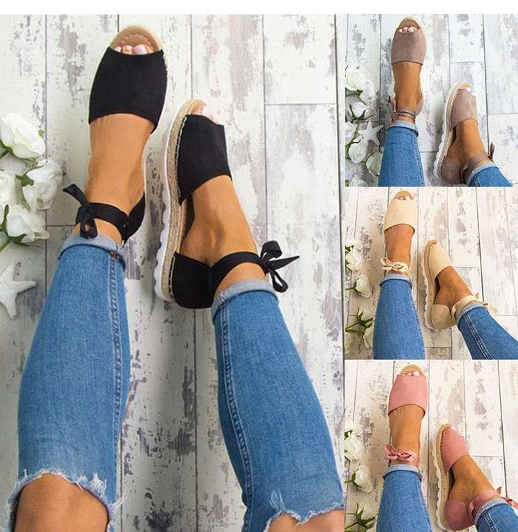Plus Size 34-43 Flats Sandals Summer Women Sandals Fashion Casual Shoes For Woman European Rome Style Sandale Femme women wedges sandals plus size 36 42 woman summer shoes 2018 new fashion casual shoes for woman european gladiator sandals