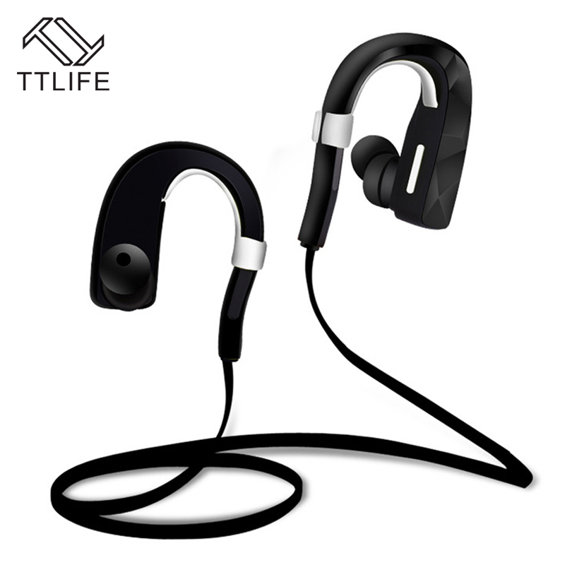 2016 TTLIFE Bluetooth Ear Hook Earphones Wireless Headphones Sports Running Headset Music Earbuds Earpiece for iPhone 7 6 xiaomi newest mini hbq i7 stereo bluetooth headphones stealth sports headset ear hook earpiece with mic for iphone 7 7p samsung xiaom