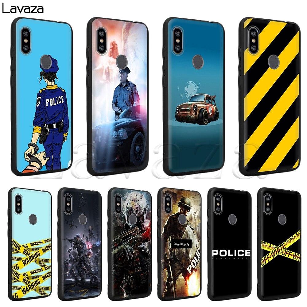 Lavaza Police Symbol Silicone Case for Xiaomi Redmi Note 4 4X 4A 5 5A 6 6a 7 Pro Go Prime Plus