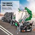 Набор для больших грузовиков Mack 20076 Technic серии 42078 строительные блоки Наборы для кирпичей развивающие игрушки сборка детский подарок