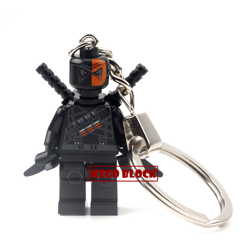Single Sale Marvel Super Hero Batman Deadpool Gambit Galactus Minifigure Keychain Building Blocks Kids Toys Birthday Xmas Gifts