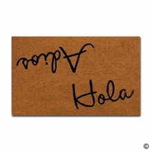 Funny Door Mat Entrance Mat Funny Door Mat Hola Adios Non-slip Doormat 18 by 30 Inch Machine Washable Non-woven Fabric