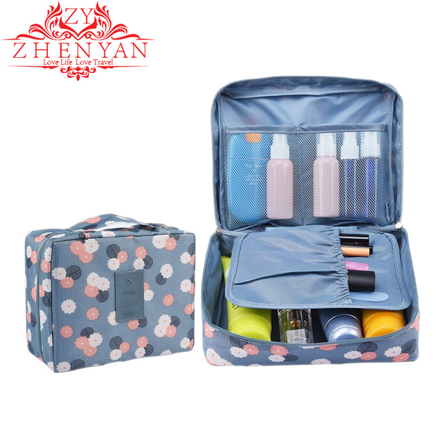 Make Up Bag Organizer Portable Folding Makeup Bag Multi-layer Mesh Travel  Storage bags for Cosmetic Brush Bathroom Toiletry 27d7e6bea3dfa
