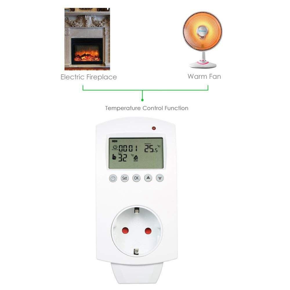 Eu Plug Wireless Temperature Controller