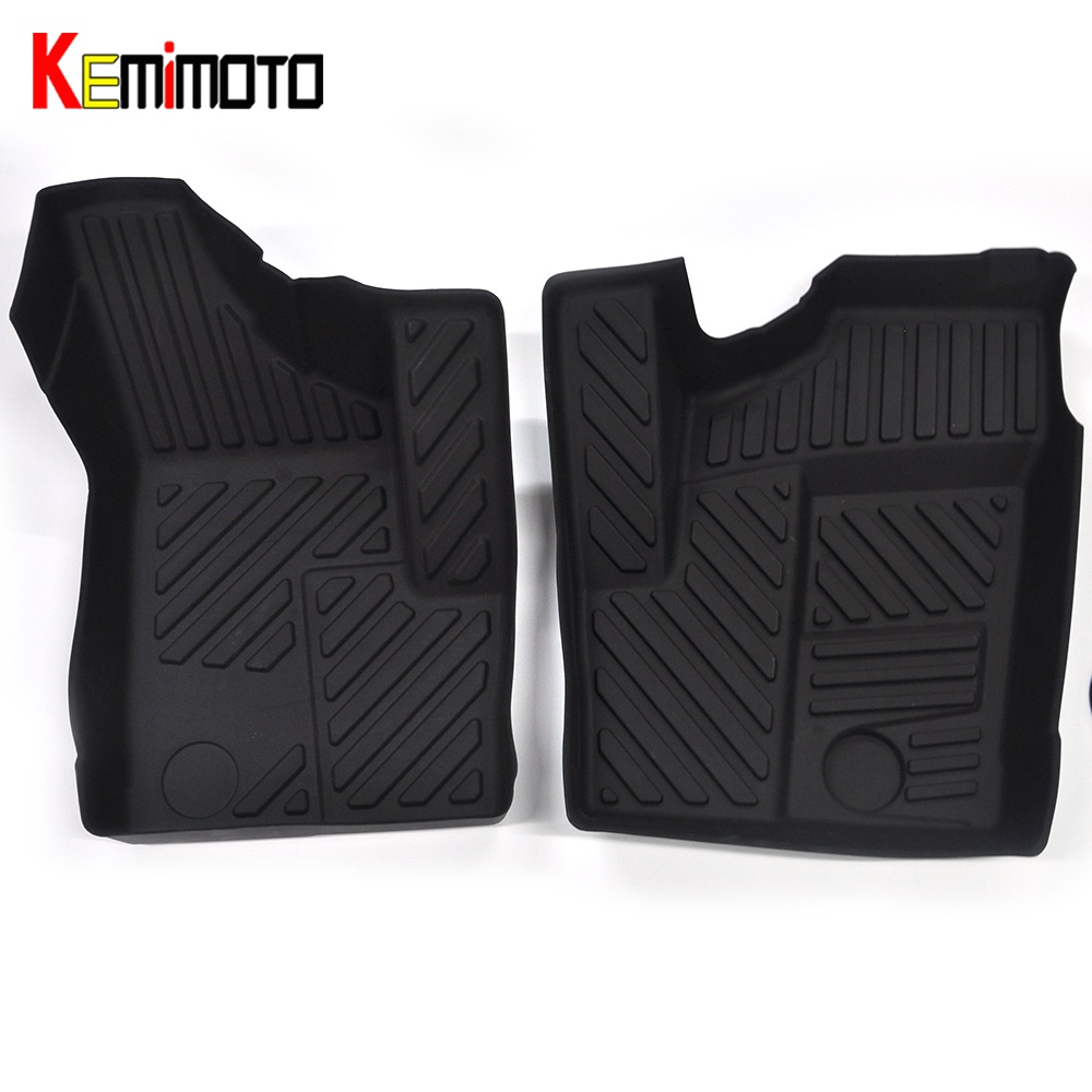 KEMiMOTO For Polaris RZR 900 50 For Polaris RZR 1000 XP EFI All Weather UTV Front Floor Liner Front Floor Mats Pad Set 2014 2015