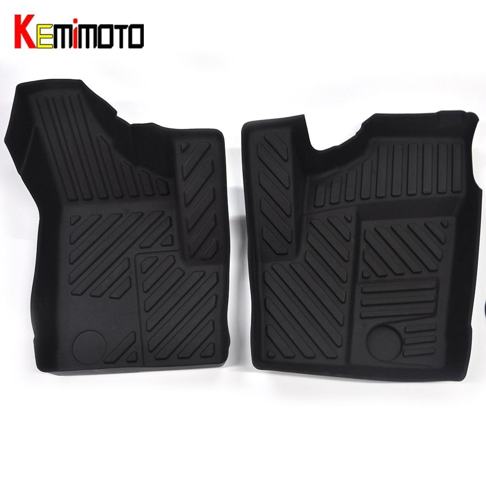 KEMiMOTO For Polaris RZR 1000 XP EFI For Polaris RZR 900 50 UTV Front Floor Liner Front Floor Mats Pad Set 2014 2015