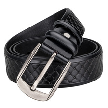 Black Leather Pin Buckle Belt For