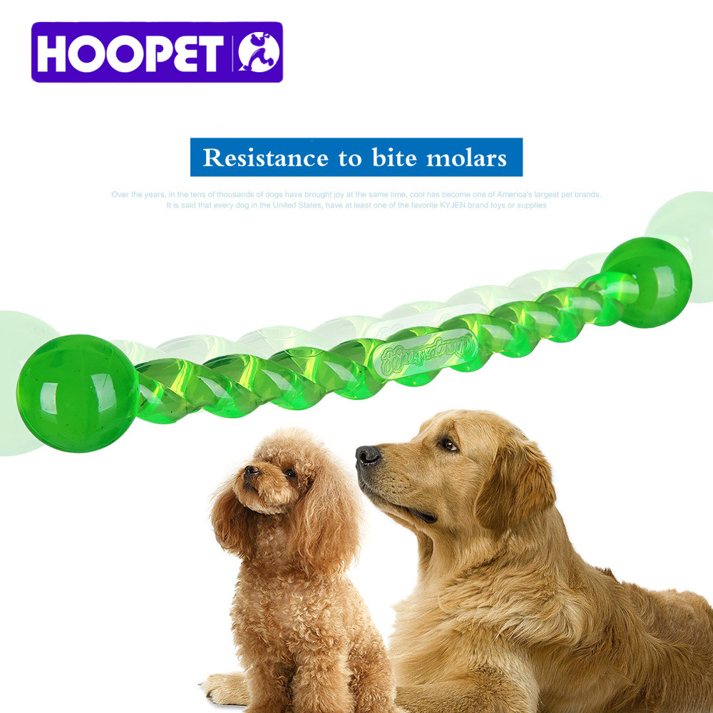 HOOPET Dog teeth stick DogS Toys Environmental Food Grade TPR Material Tooth Cleaning Chew Treat Teething Dog chew Play toy