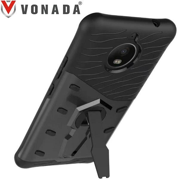 Vonada Strong Sniper Shockproof Air Bag 360 Bracket Cover Case For MOTO E4 Plus European Version
