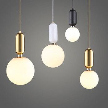 Luminaire moderne pendentif Led lumières chevet suspension barre salle à manger maison déco suspension lampe nordique goutte luminaire verre Ba 1