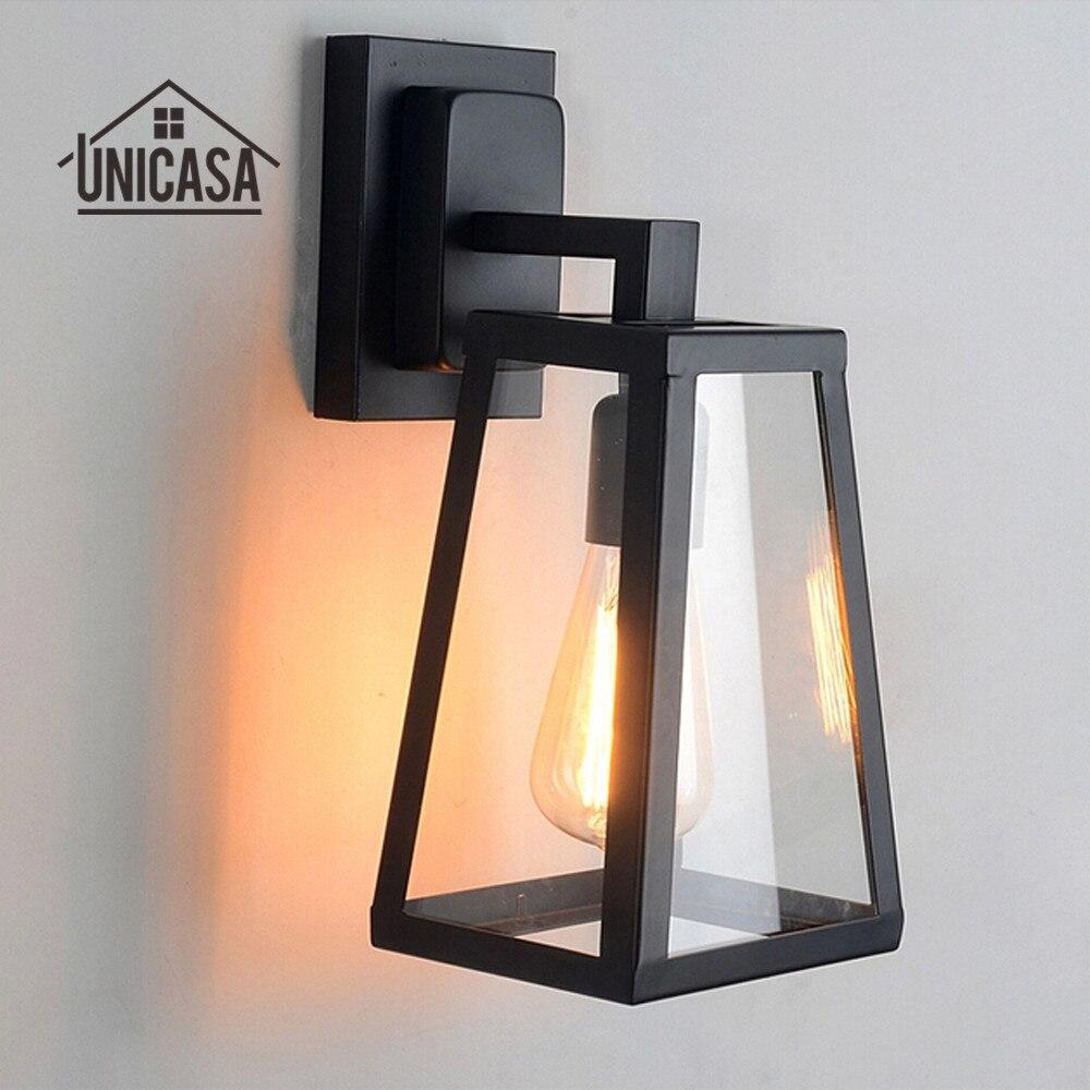 Vnitřní nástěnná svítidla Kuchyňská hala Koupelna Starožitné kované železné nástěnné svítidla Černá Vintage Průmyslové osvětlení Loft LED Nástěnná lampa