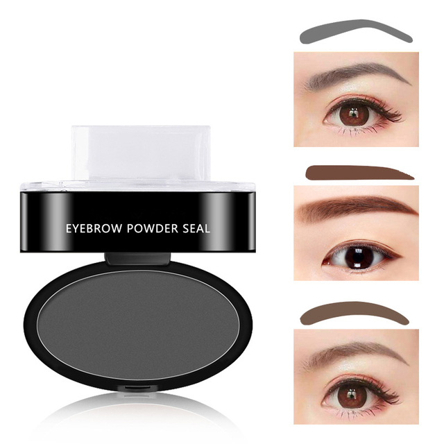 Natural Arched Eyebrow Stamp Quick Makeup Brow Stamps Powder Pallette 9 Options Eyebrow Powder Seal Best Selling Dropshipping 2