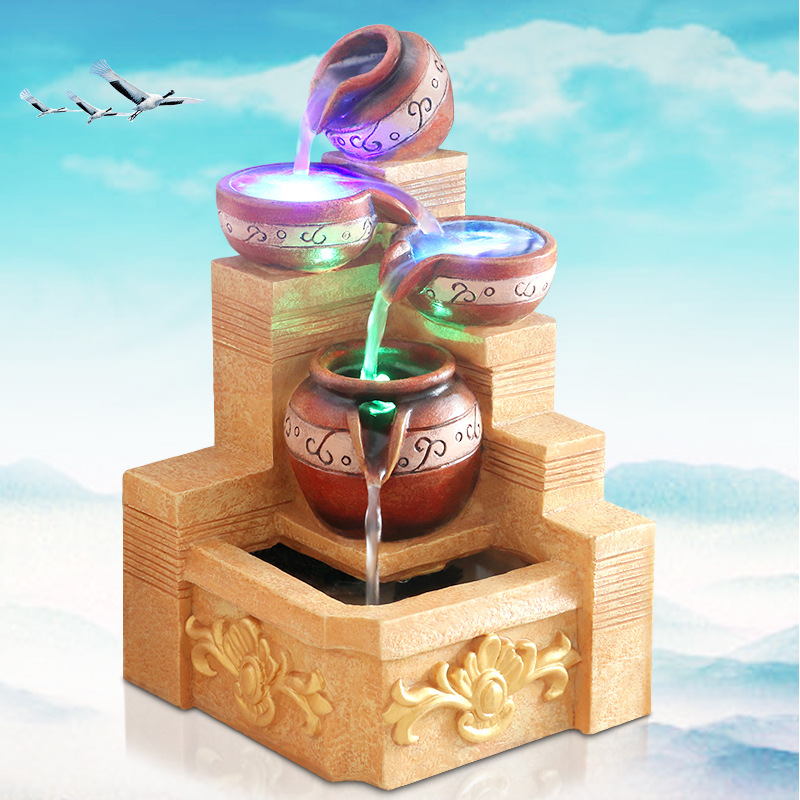 iee fuentes de agua de resina regalos creativos adornos de resina artesanas decorativas de agua fuentes