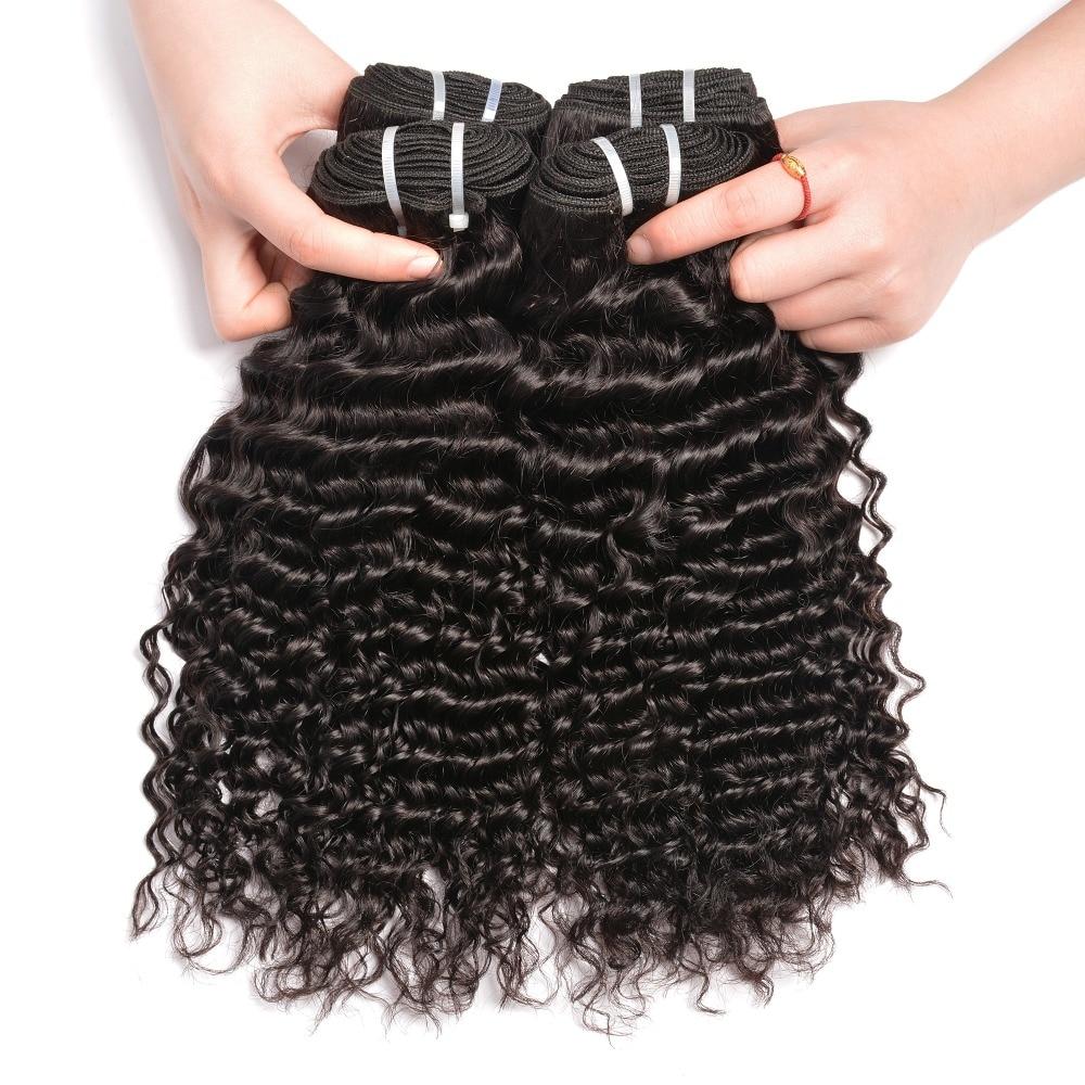 Iwish Hair Peruvian Curly Hair Weave Bundles Human Hair 1/3/4 Piece 10-28inch Non Remy Hair Weave Bundles Natural Color