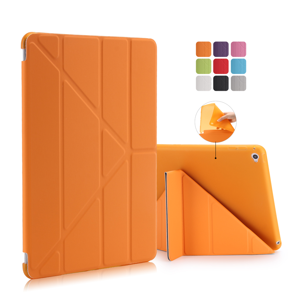 For iPad Air 2 1 Case, PU Leather+Silicone Soft Back Smart Cover Case for Apple iPad 2 3 4 pro 10.5'' For ipad Mini 4 3 2 1 surehin nice tpu silicone soft edge cover for apple ipad air 2 case leather sleeve transparent kids thin smart cover case skin