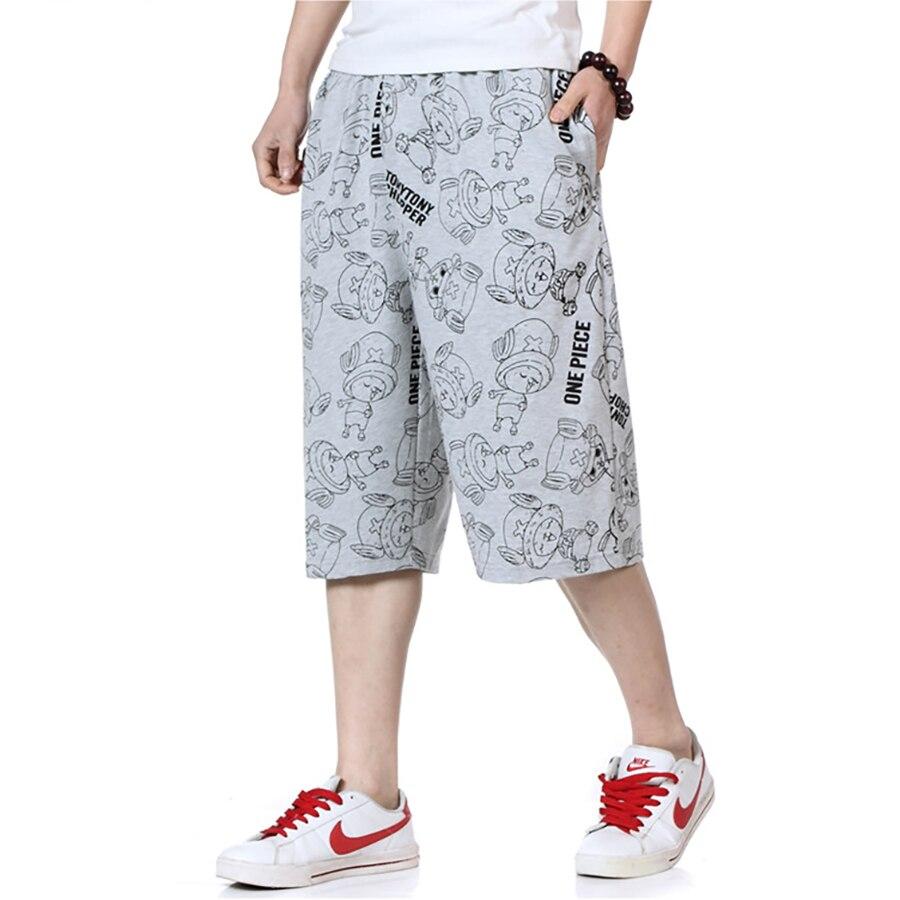 Big Size Summer Shorts Men With Pockets Printed Baggy Joggers Hip Hop Shorts Academia Workout Homens Gasp Sweatpants 6d022