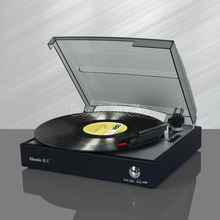 Douk Audio Nostalgic Stereo Turntable LP Vinyl Record Player Supports Vinyl to MP3 Recording and RCA Output Natural Wood