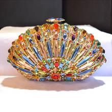 2016 europäischen und Amerikanischen sturz Kristall Handtasche Frauen Hochzeit Kupplung Abendgesellschaft Mode Handtaschen Gold Silber Q02